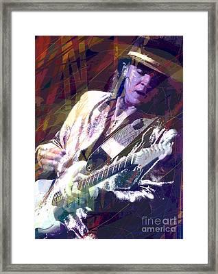 Stevie Ray Vaughan Texas Blues Framed Print