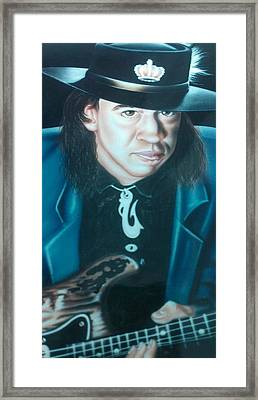 Stevie Ray Vaughn Framed Print
