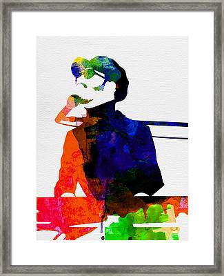 Stevie Watercolor Framed Print by Naxart Studio
