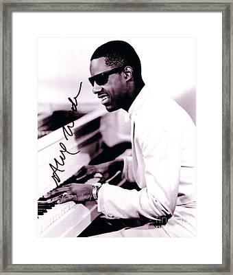Stevie Wonder Autographed Framed Print by Pd