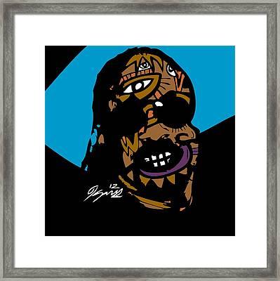 Stevie Wonder Full Color Framed Print