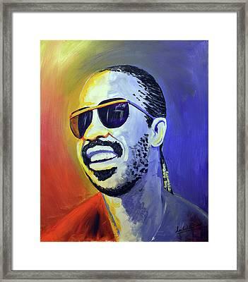 Stevie Wonder Framed Print