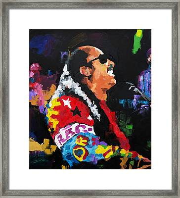 Stevie Wonder Live Framed Print by Richard Day