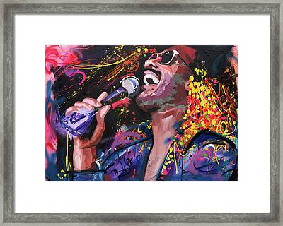 Stevie Wonder Framed Print by Richard Day