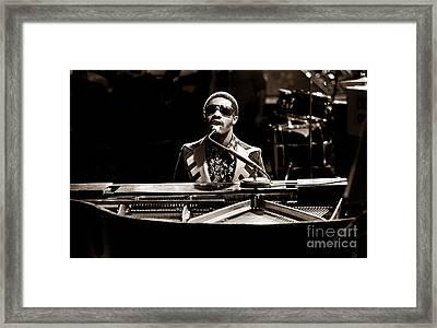 Stevie Wonder Softer Gentle Mood - Sepia Framed Print