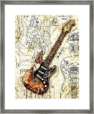 Stevie's Guitar Framed Print
