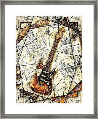 Stevie's Guitar V2 Framed Print