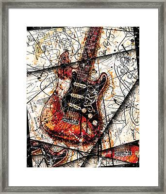 Stevie's Guitar V4 Framed Print by Gary Bodnar