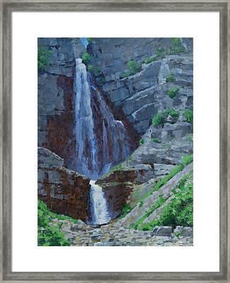 Stewart Falls Framed Print