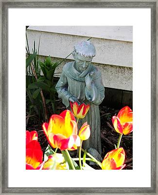 Framed Print featuring the photograph St.francis by Judy Via-Wolff