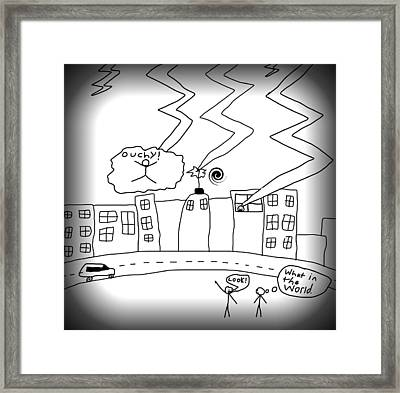 Stick City Framed Print by Optimus Felder
