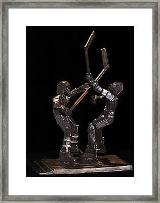 Stick Dance Framed Print by Ken Yackel