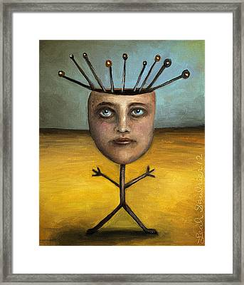 Stick Figure 1 Framed Print by Leah Saulnier The Painting Maniac