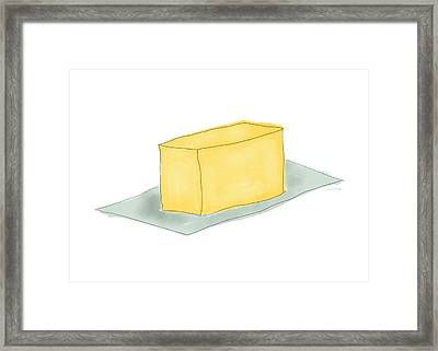 Stick Of Butter- Art By Linda Woods Framed Print