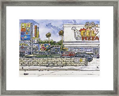 Sticker Landscape 2 Parking Lot Framed Print by Karl Frey