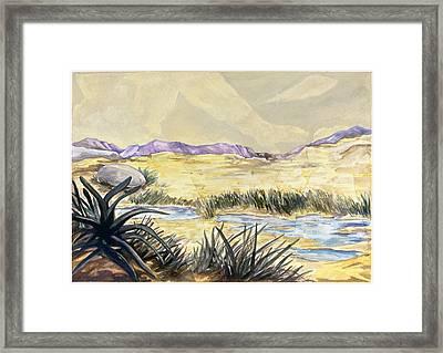 Sticker Landscape 3 Desert Framed Print by Karl Frey