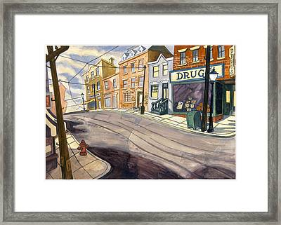 Sticker Landscape 4 Mainstreet Framed Print by Karl Frey