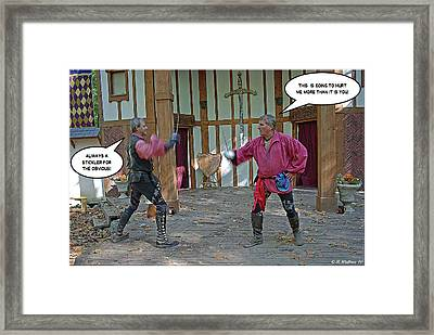 Stickler Framed Print by Brian Wallace