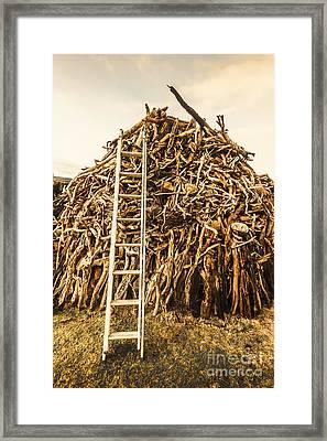 Sticks And Ladders Framed Print