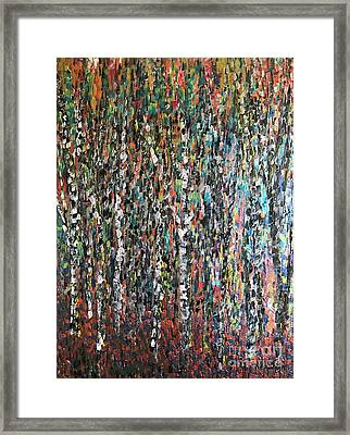 Sticks And Stones Framed Print by Heather McKenzie
