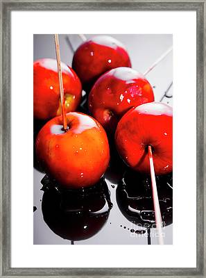 Sticky Red Toffee Apple Childhood Treat Framed Print