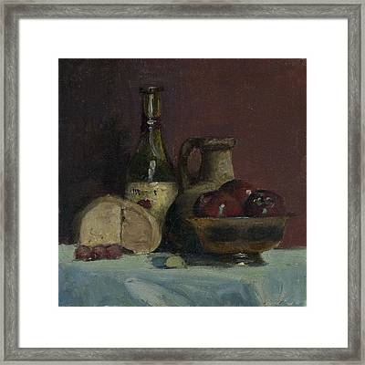 Framed Print featuring the painting Stil Life With Apples by John Reynolds