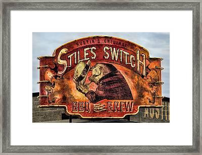 Stiles Switch Bbq Framed Print