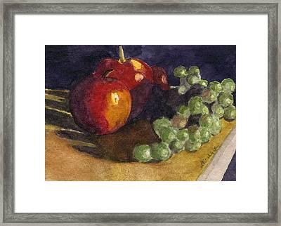 Still Apples Framed Print