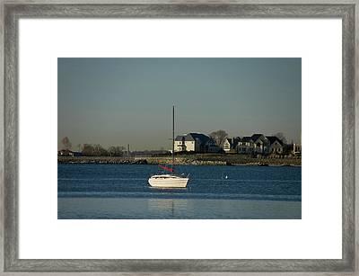 Still Boat Framed Print