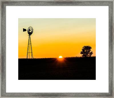 Framed Print featuring the photograph Still Country Sunset Silhouette by Chris Bordeleau