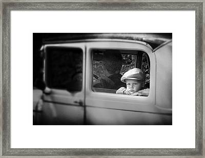 Still Far To Go Dad? Framed Print by Ben Goossens