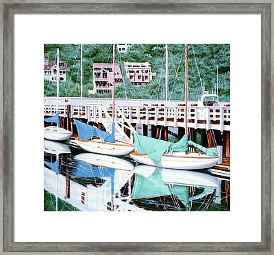 Still In Sausalito - Prints From My Original Oil Painting Framed Print
