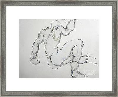 Framed Print featuring the drawing Still In The Game - 2 by Carolyn Weltman