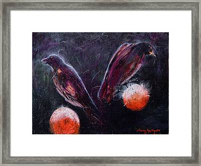 Still Is Sitting Framed Print by Sandy Applegate
