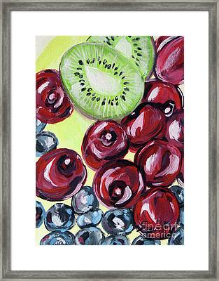 Still Life 130. Cherries Framed Print