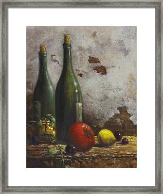 Still Life 3 Framed Print by Harvie Brown