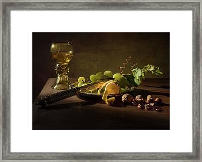 Still Life A La Pieter Claesz Framed Print