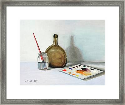 Still Life After Nc Wyeth Framed Print