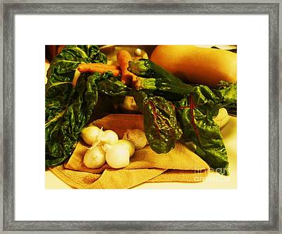 Still Life And Then Dinner Framed Print by Jamey Balester