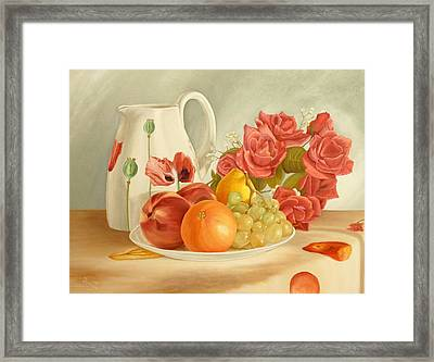 Still Life Framed Print by Angeles M Pomata