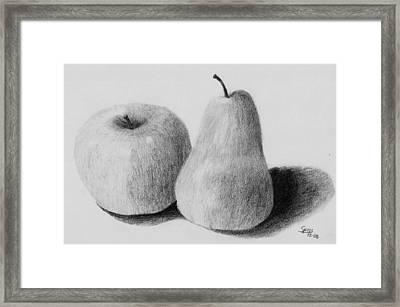Still Life Apple Pear Framed Print by Spiros Antonellos
