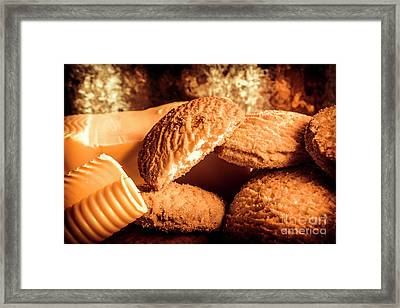 Still Life Bakery Art. Shortbread Cookies Framed Print by Jorgo Photography - Wall Art Gallery