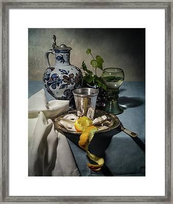 Still Life Blue And Lemmon Framed Print