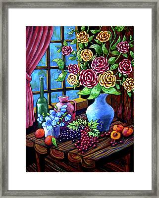 Still Life By The Window Framed Print