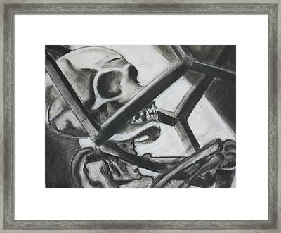 Framed Print featuring the drawing Still Life  by Carrie Maurer