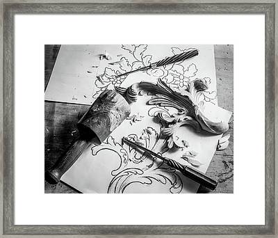 Still Life Carving Still Life Framed Print