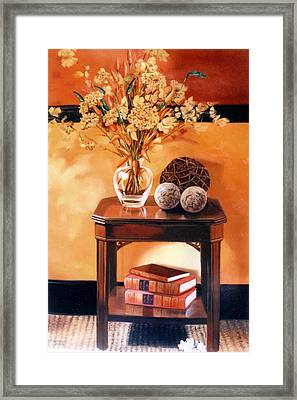 Framed Print featuring the painting Still Life by Chonkhet Phanwichien