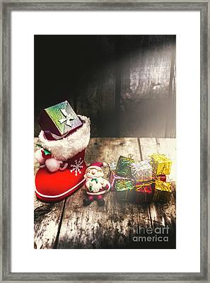 Still Life Christmas Scene Framed Print by Jorgo Photography - Wall Art Gallery