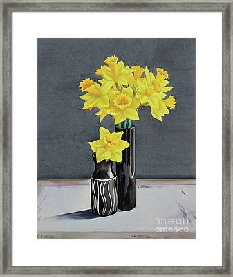 Still Life Daffodils Framed Print by Christopher Ryland