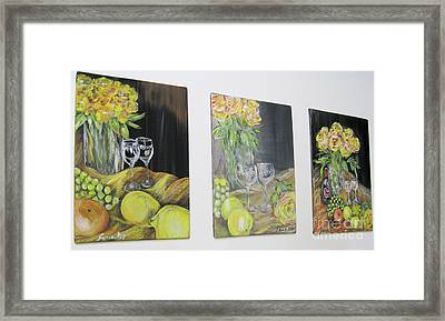 Still Life. Flowers And Fruits 2017 Framed Print